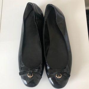 Patent leather Gucci ballet pumps